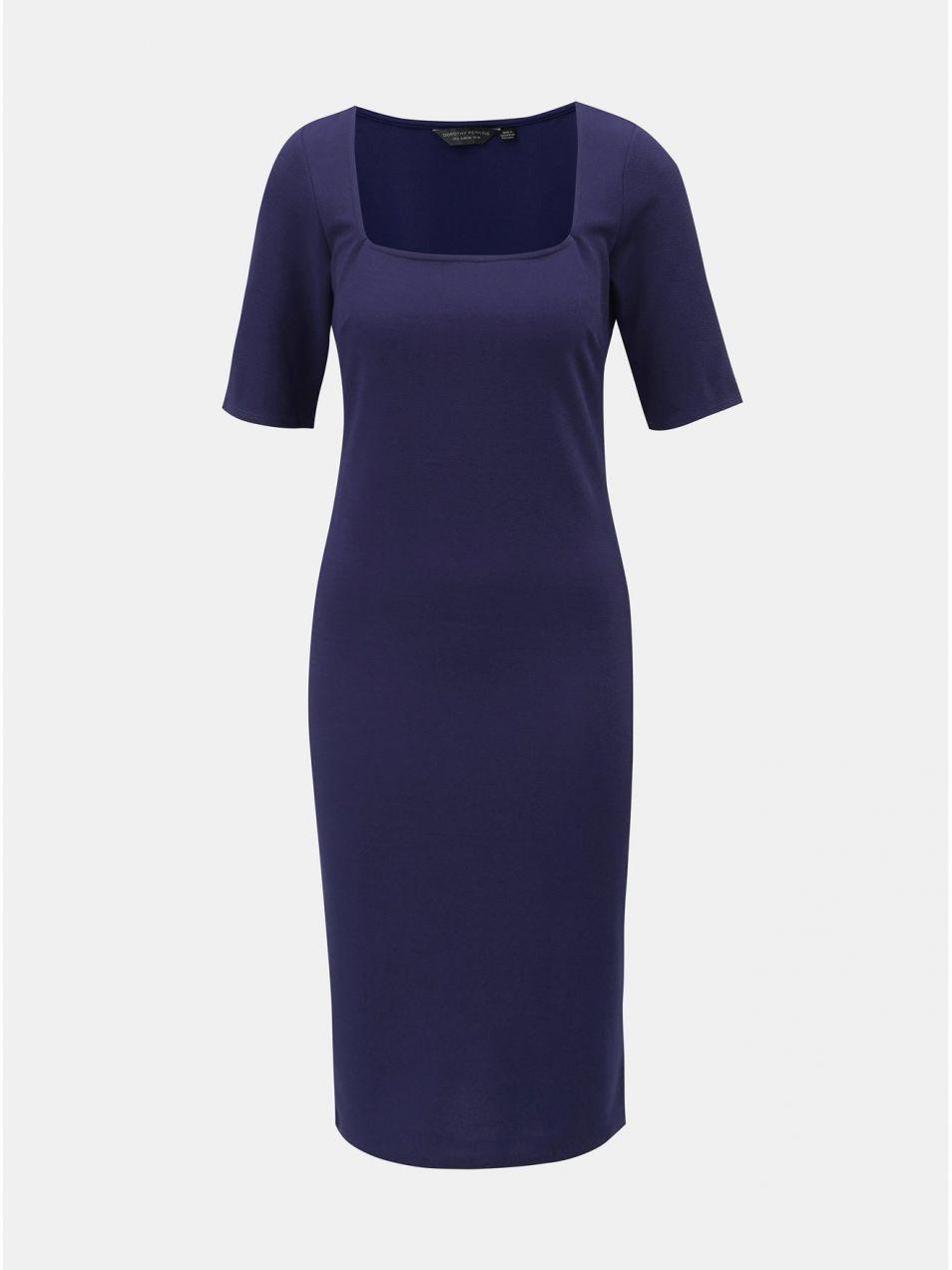 188382897d63 Modré puzdrové šaty s krátkym rukávom Dorothy Perkins Tall značky ...