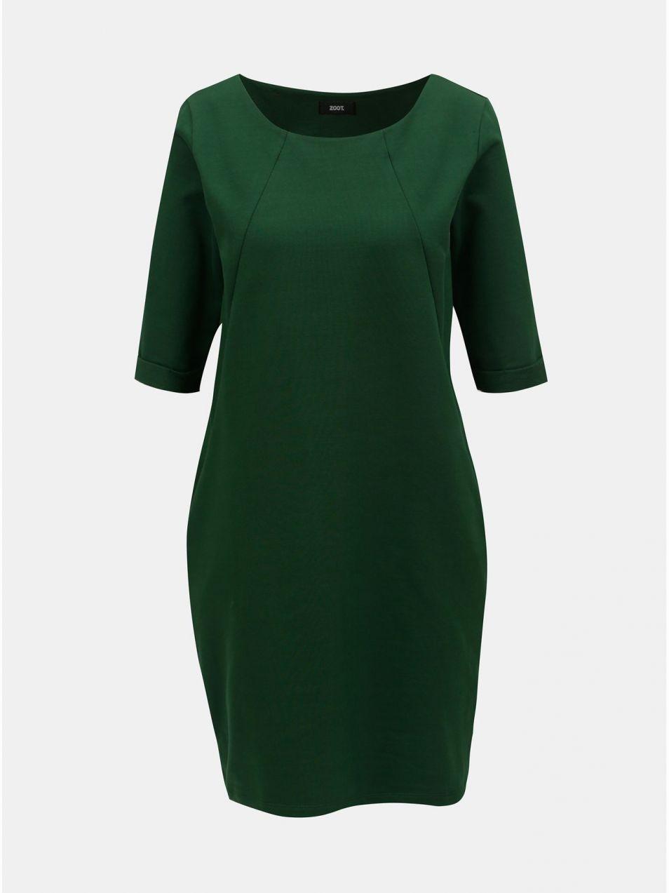 85888422a457 Zelené voľné šaty s vreckami ZOOT značky ZOOT - Lovely.sk
