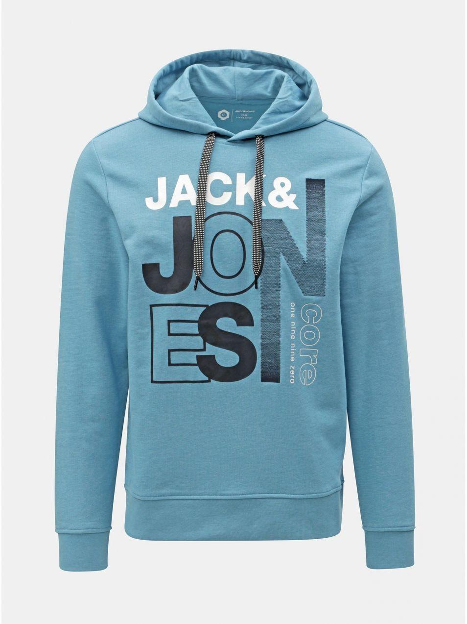 Modrá mikina s potlačou Jack   Jones Tilly značky Jack   Jones ... fbc7c7b652