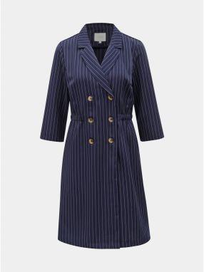 2faf1e269e34 Tmavomodré pruhované šaty s gombíkmi VILA Enrica