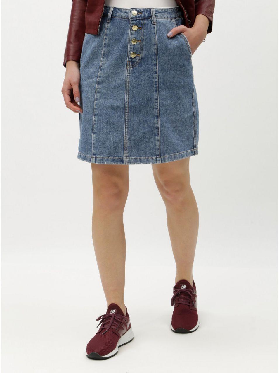 0ec324ad86 Modrá rifľová sukňa s gombíkmi Jacqueline de Yong Lola značky ...