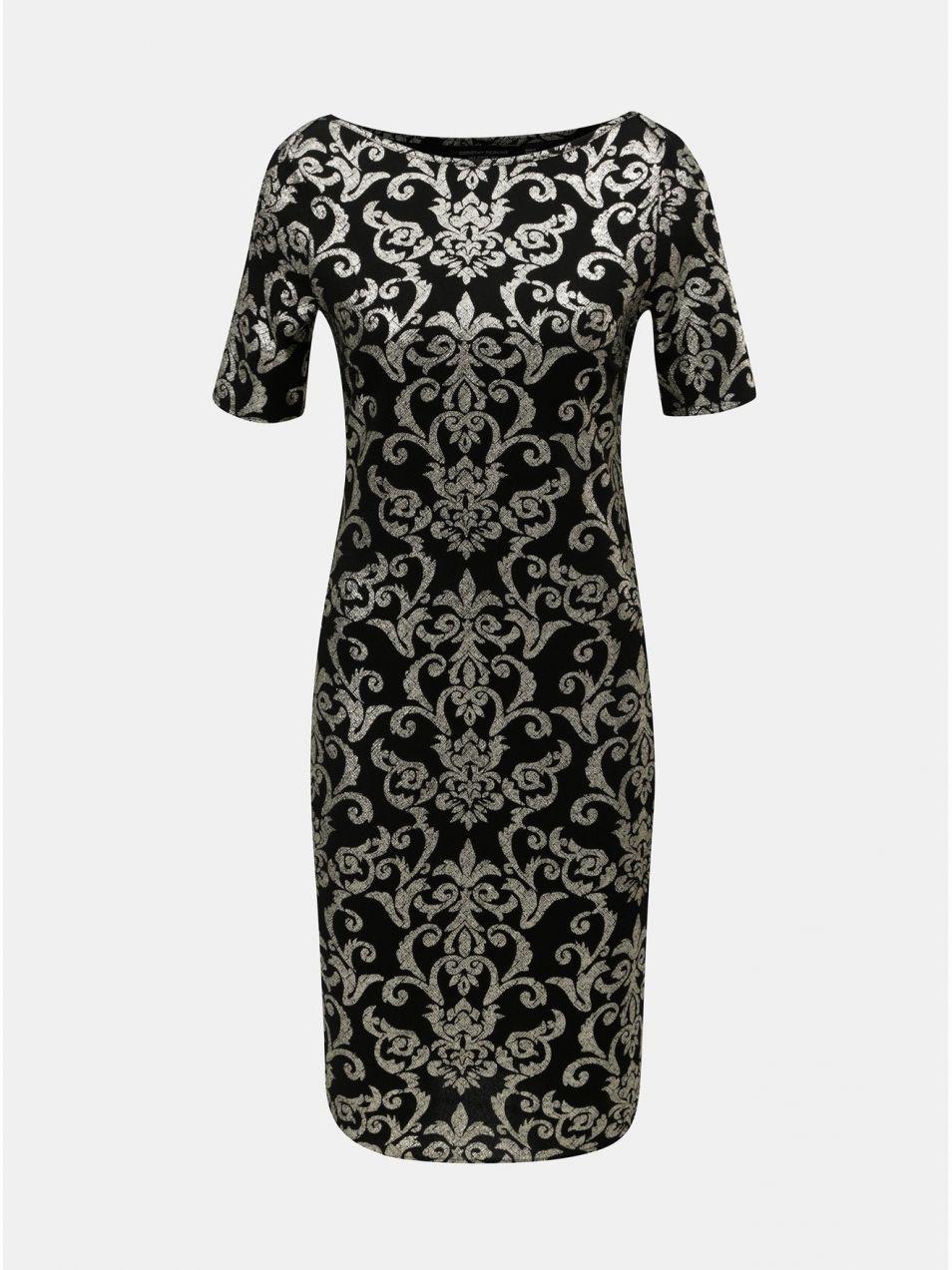 179ba10adc9d Puzdrové vzorované šaty v zlato–čiernej farbe Dorothy Perkins značky  Dorothy Perkins - Lovely.sk