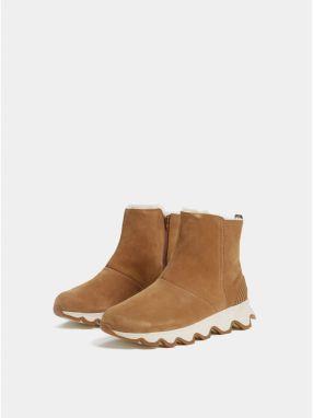 Hnedé dámske zimné členkové nepremokavé topánky v semišovej úprave SOREL  Kinetic galéria 8ab2c26f436
