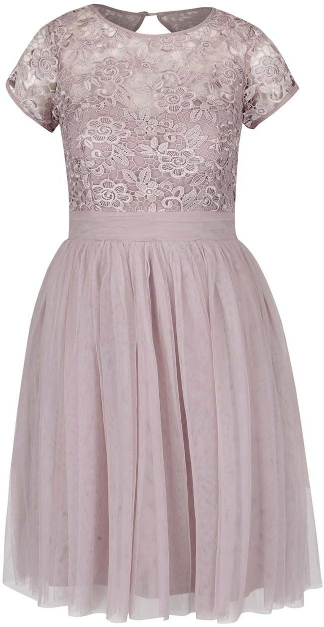 68b022e5beff Staroružové šaty s čipkovaným topom Little Mistress značky Little Mistress  - Lovely.sk