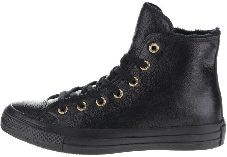 Čierne dámske kožené členkové tenisky Converse Chuck Taylor All Star značky  Converse - Lovely.sk 8510ed58ab