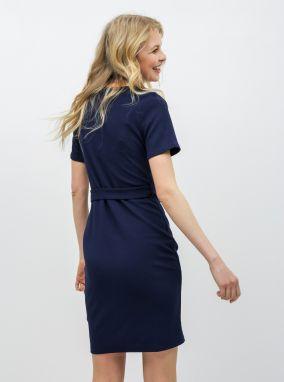 f8baf51ac25d Tmavomodré puzdrové šaty s opaskom Dorothy Perkins Tall značky ...