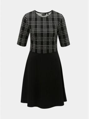 Čierne bodkované šaty so stojačikom Dorothy Perkins značky Dorothy ... 411e3a0f4b0