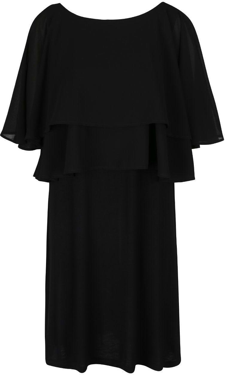 43fa40d4d367 Čierne šaty s volánmi VILA Shelly značky VILA - Lovely.sk