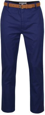 Modré slim chino nohavices opaskom Burton Menswear London