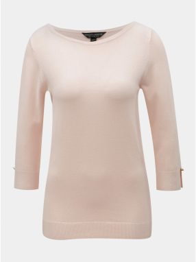 4aac45d3c0d8 Svetloružový tenký sveter s 3 4 rukávom Dorothy Perkins