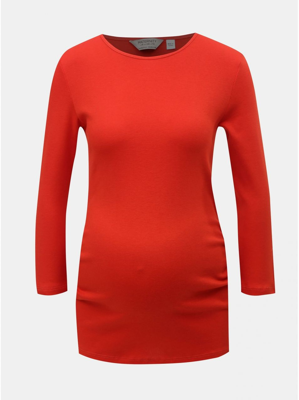 907dbb95d14f Červené tehotenské tričko s 3 4 rukávom Dorothy Perkins Maternity ...