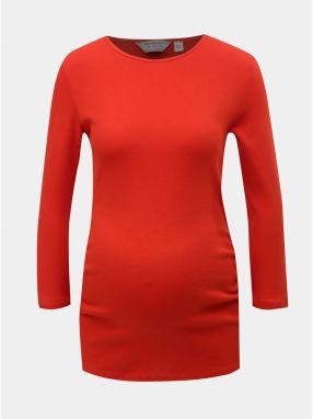 ea5646e1644a Červené tehotenské tričko s 3 4 rukávom Dorothy Perkins Maternity galéria