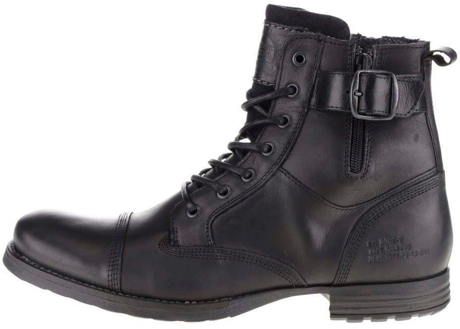 abd07fbbbf45 Čierne pánske kožené topánky s prackou Bullboxer značky Bullboxer -  Lovely.sk
