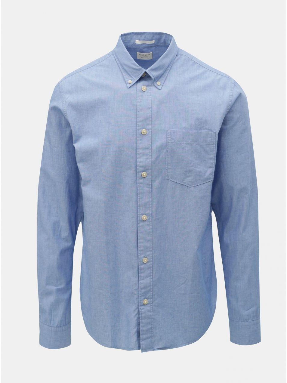 82448563838f Modrá regular fit košeľa Selected Homme Reglandon značky Selected ...