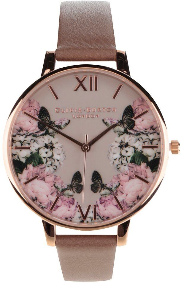 09a16bbc4 Hnedé hodinky s kvetovaným ciferníkom Olivia Burton značky Olivia Burton -  Lovely.sk