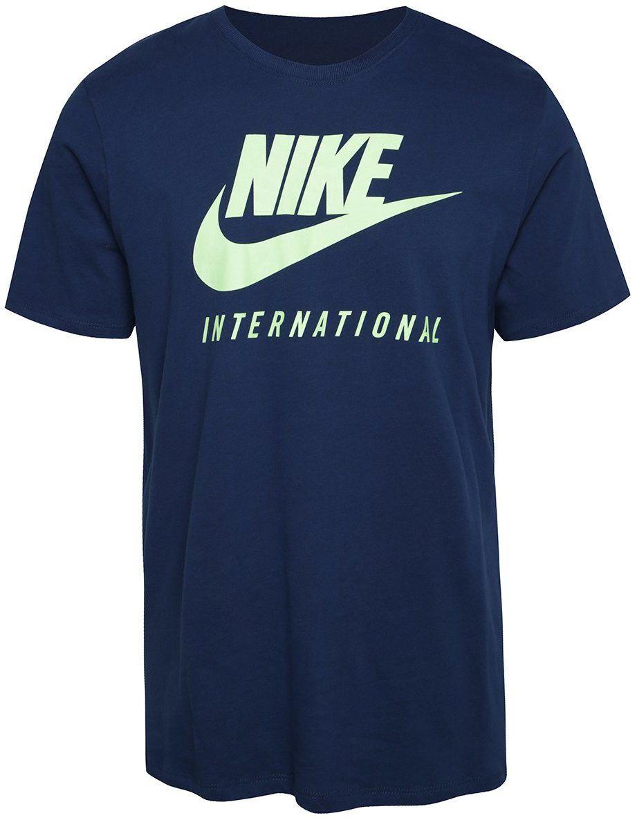 323ba84678f1 Tmavomodré pánske tričko s nápisom Nike International značky Nike -  Lovely.sk