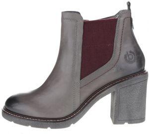 533241f44 Sivé dámske kožené členkové topánky na podpätku bugatti Adina
