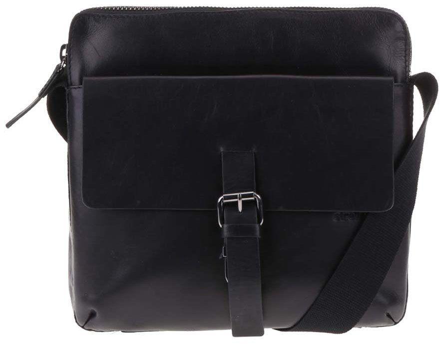 Čierna kožená pánska taška cez rameno Strellson Scott značky Strellson -  Lovely.sk 19e68d41c7d