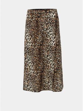 629d3d7d17e4 Béžovo–hnedá sukňa s leopardím vzorom Dorothy Perkins