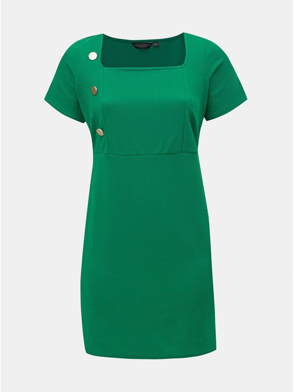 80af307b07f5 Zelené puzdrové šaty s gombíkmi Dorothy Perkins Curve značky Dorothy ...