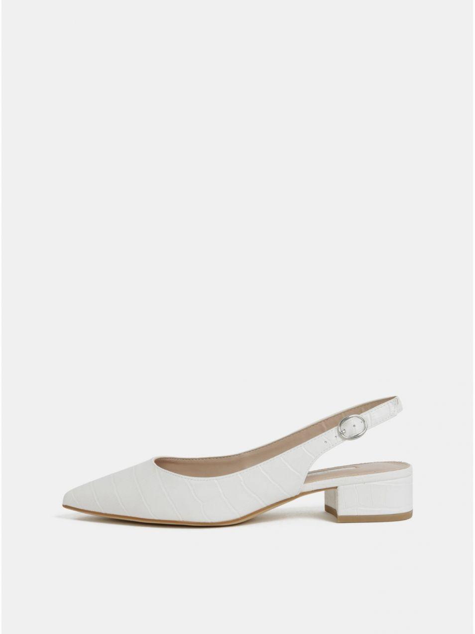 5e7765c70385 Biele sandálky s krokodílím vzorom Dorothy Perkins značky Dorothy Perkins -  Lovely.sk
