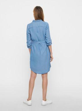a00110519bc2 Modré rifľové košeľové šaty VERO MODA Mia značky Vero Moda - Lovely.sk