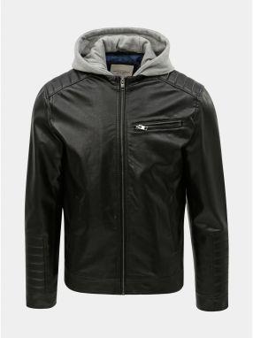 14cd14becd56 Čierna koženková bunda s odnímateľnou časťou Jack   Jones Chris