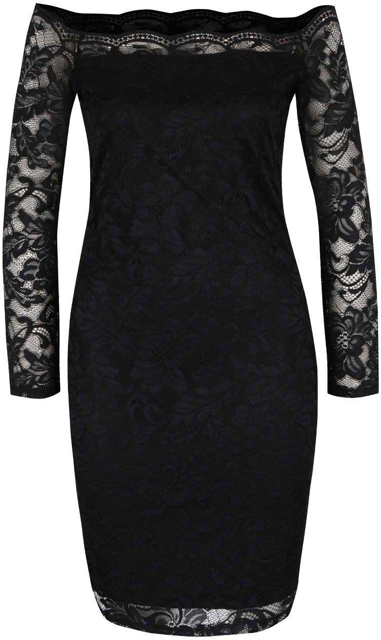 4bc7d100da71 Čierne čipkované šaty ONLY Moskat značky ONLY - Lovely.sk
