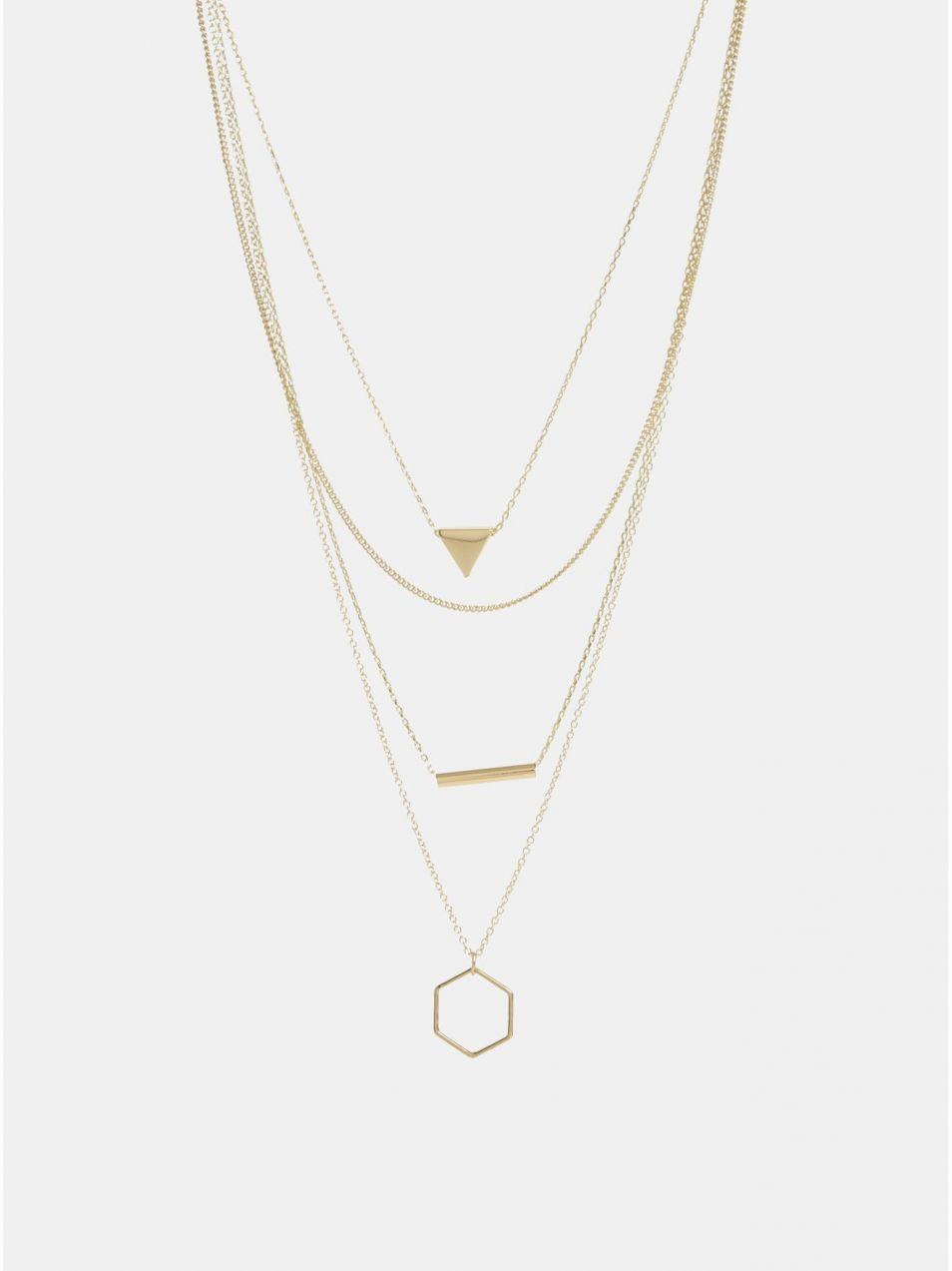 Náhrdelník v zlatej farbe Pieces Lexago značky Pieces - Lovely.sk 2a40c2cf9cf