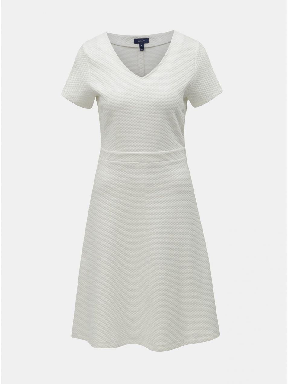 9fc618077be4 Krémové šaty s krátkym rukávom GANT značky Gant - Lovely.sk