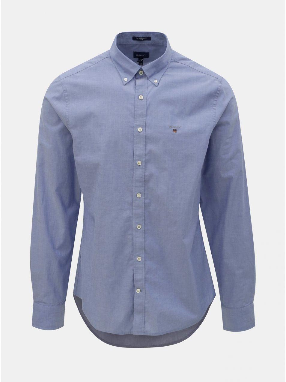 b269ed2b1e Modrá pánska slim fit košeľa GANT značky Gant - Lovely.sk