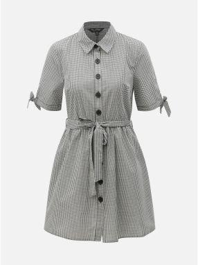 Bielo–čierne kockované košeľové šaty Miss Selfridge 4920ca38c0e