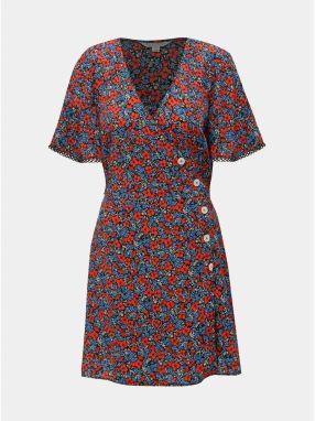 Modro–červené kvetované šaty Miss Selfridge 77a5cee6714