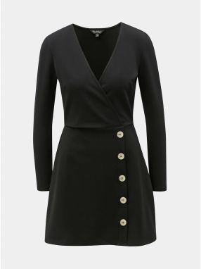 Čierne rebrované šaty Miss Selfridge 31069e2d5ba