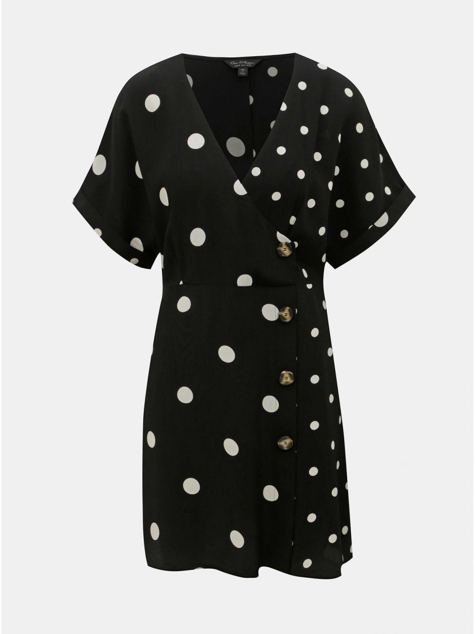 e4504e9ed4e1 Bielo–čierne bodkované šaty Miss Selfridge značky Miss Selfridge ...