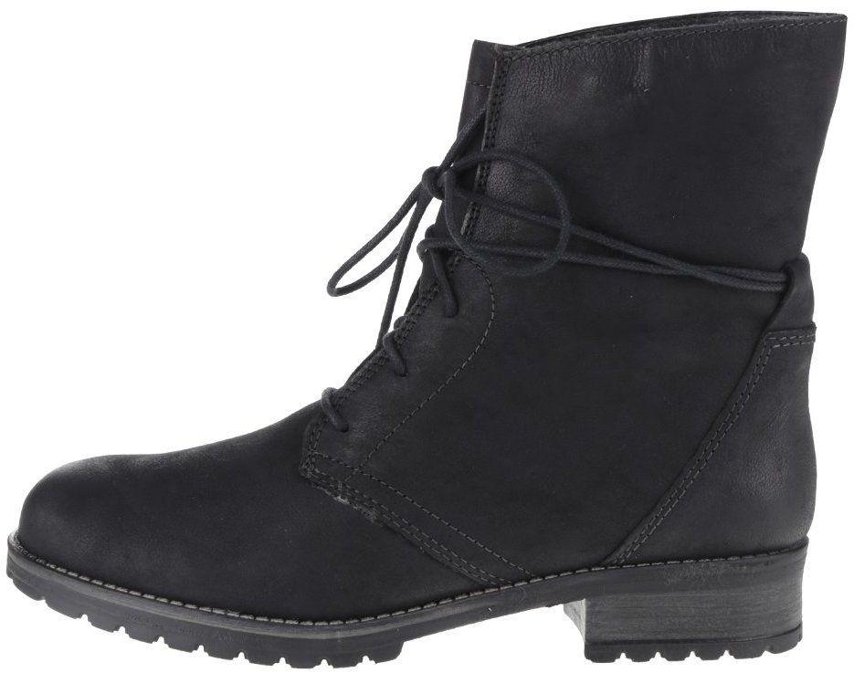 63654fe3bf Čierne kožené členkové šnurovacie topánky s umelou kožušinou Tamaris značky  Tamaris - Lovely.sk
