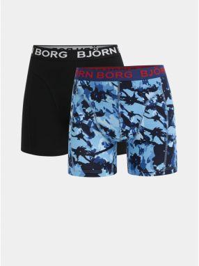 3d0032e0723e Balenie dvoch boxeriek v čiernej a modrej farbe Björn Borg