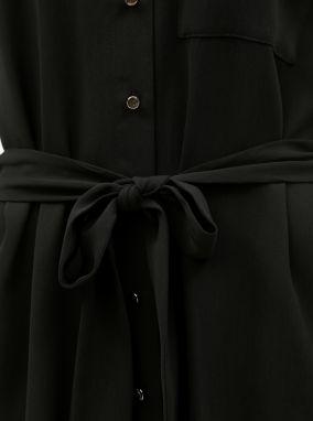00bbe46a50 Čierne košeľové šaty s opaskom Dorothy Perkins značky Dorothy ...