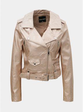 0cd8692a9bb6 Svetloružová koženková bunda s metalickými odleskami TALLY WEiJL Damar