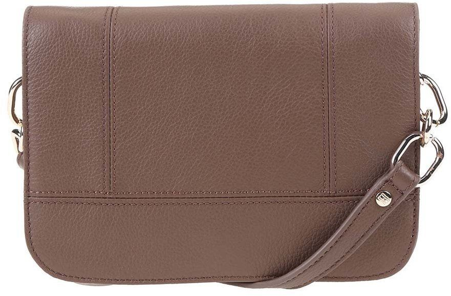 Hnedá menšia kožená kabelka cez rameno Tommy Hilfiger Signature značky  Tommy Hilfiger - Lovely.sk 38160b6ac9d