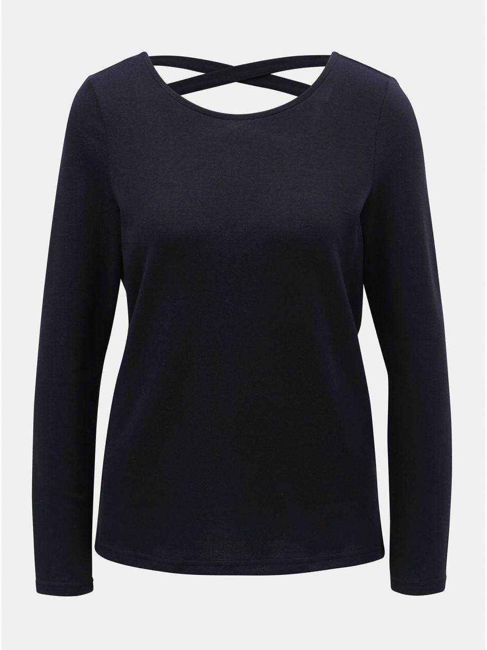 a7b88aa8da Tmavomodré tričko s pásikmi na chrbte Jacqueline de Yong Emily ...