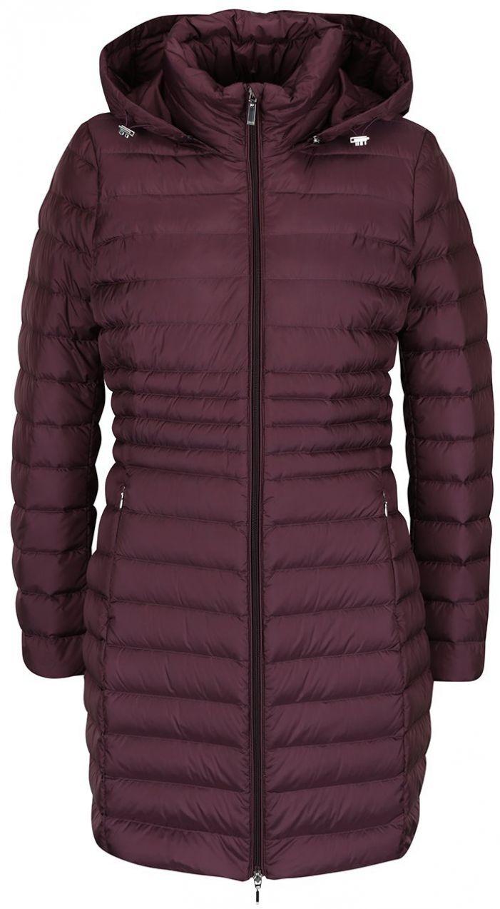 Vínový dámsky páperový funkčný prešívaný kabát s kapucňou Geox značky Geox  - Lovely.sk 74f909c5dd5