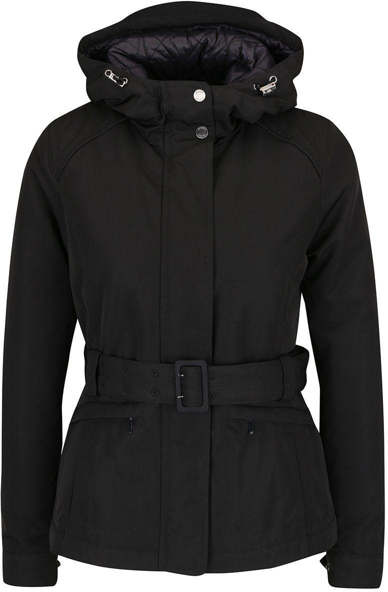 Čierna dámska funkčná bunda s kapucňou a opaskom Geox značky Geox -  Lovely.sk 82d2dadb8dd