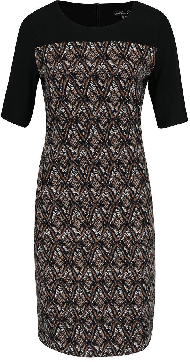 Čierno-hnedé vzorované šaty Smashed Lemon značky Smashed Lemon - Lovely.sk 12ce6854744