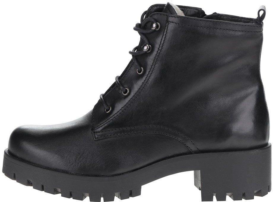 59ee89d036 Čierne členkové kožené šnurovacie topánky Tamaris značky Tamaris - Lovely.sk