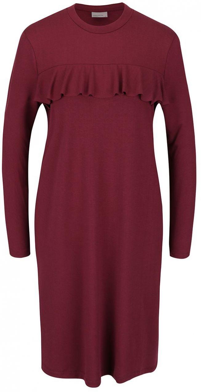 005c513176ad Vínové šaty s volánikom Vero Moda Tammi značky Vero Moda - Lovely.sk