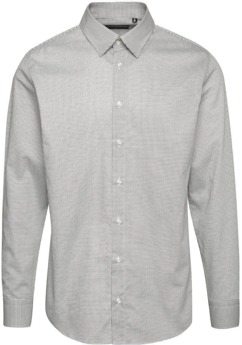 89cb5f51b9d2 Sivá pánska vzorovaná slim fit košeľa Pietro Filipi značky Pietro Filipi -  Lovely.sk