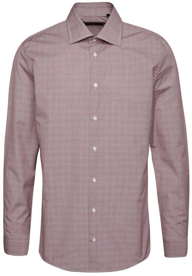 8ff0520da6e5 Červená pánska slim fit košeľa s jemným dezénom v modro-bielej farbe Pietro  Filipi značky Pietro Filipi - Lovely.sk