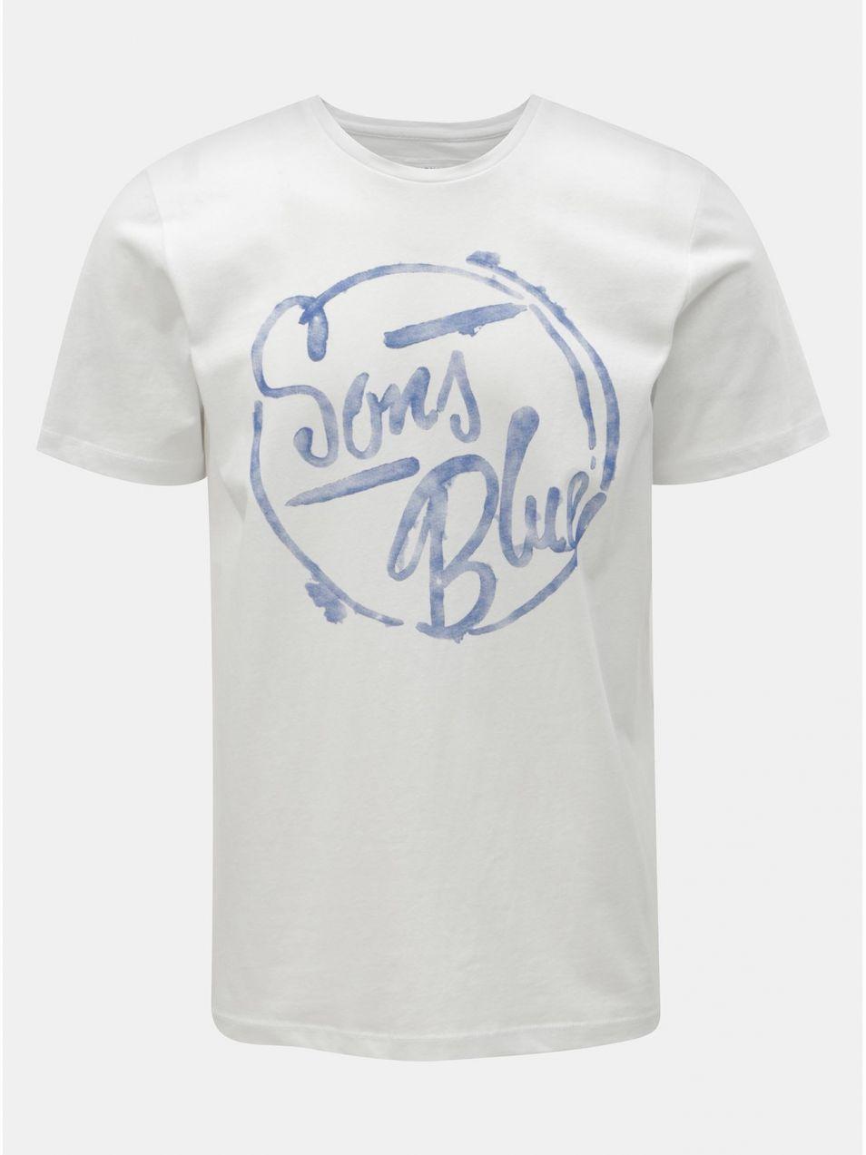 06887248d9c78 Biele tričko s potlačou ONLY & SONS Lounge značky ONLY & SONS ...