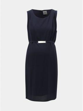 acb69d96b0a6 Svetlomodré rifľové tehotenské šaty s 3 4 rukávmi Mama.licious ...